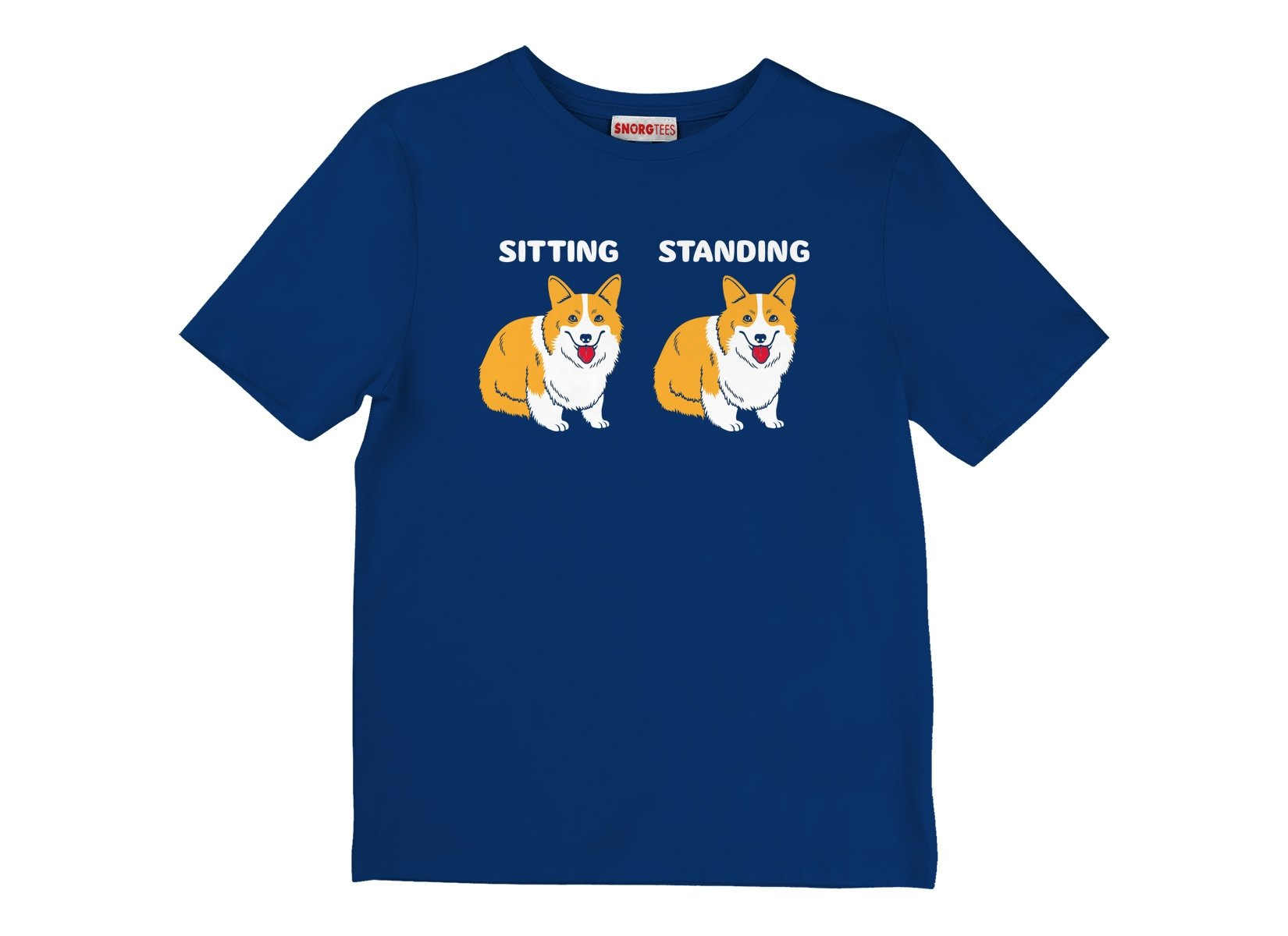 Corgi Sitting And Standing on Kids T-Shirt