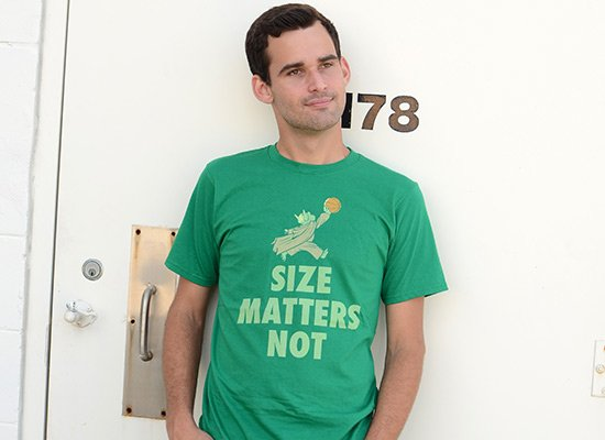 Size Matters Not on Mens T-Shirt