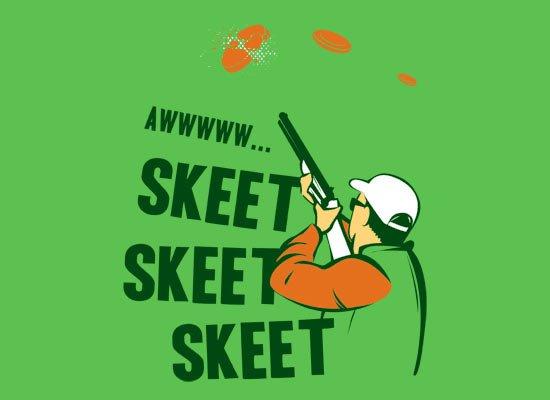 Skeet Skeet Skeet on Mens T-Shirt