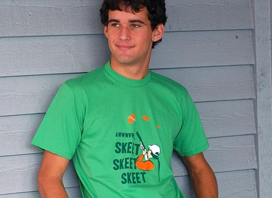 Skeet Skeet Skeet on Mens T-Shirt