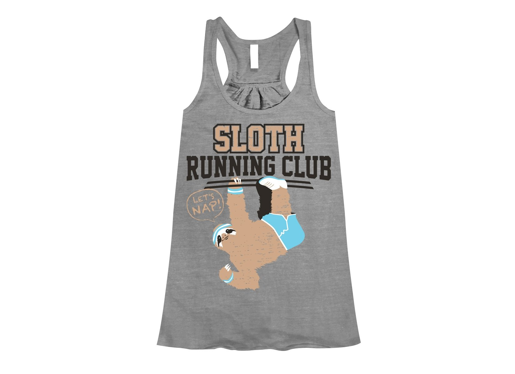 Sloth Running Club on Womens Tanks T-Shirt