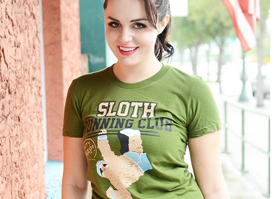 Sloth Running Club on Juniors T-Shirt