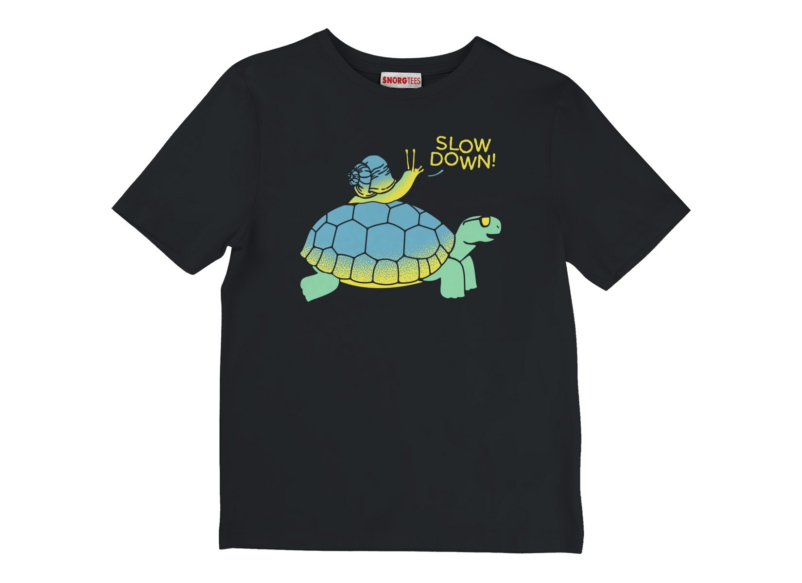 Slow Down! on Kids T-Shirt