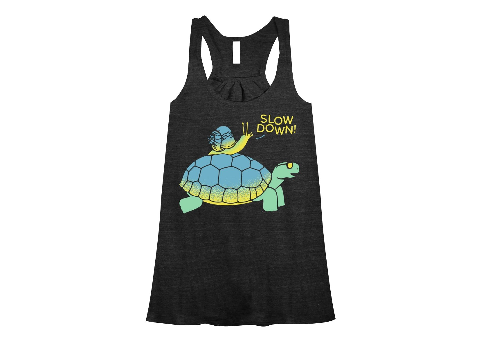 Slow Down! on Womens Tanks T-Shirt