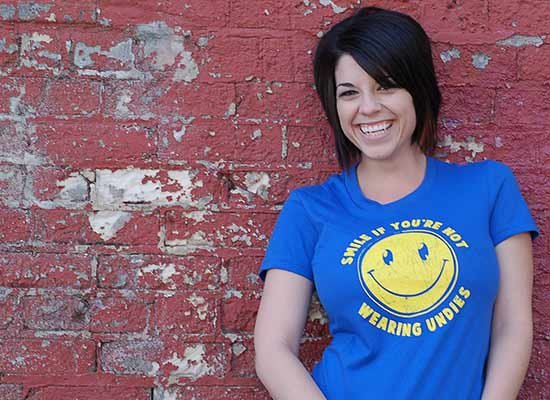 Smile For No Undies on Juniors T-Shirt