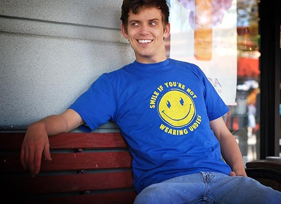 Smile For No Undies on Mens T-Shirt