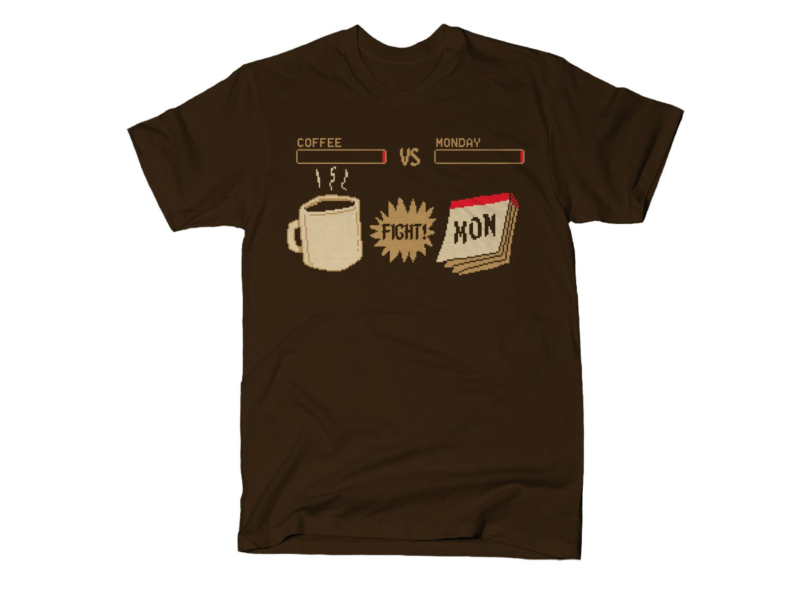 Coffee vs Monday on Mens T-Shirt