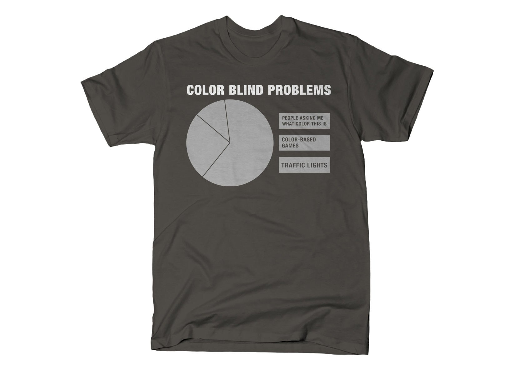 Color Blind Problems on Mens T-Shirt