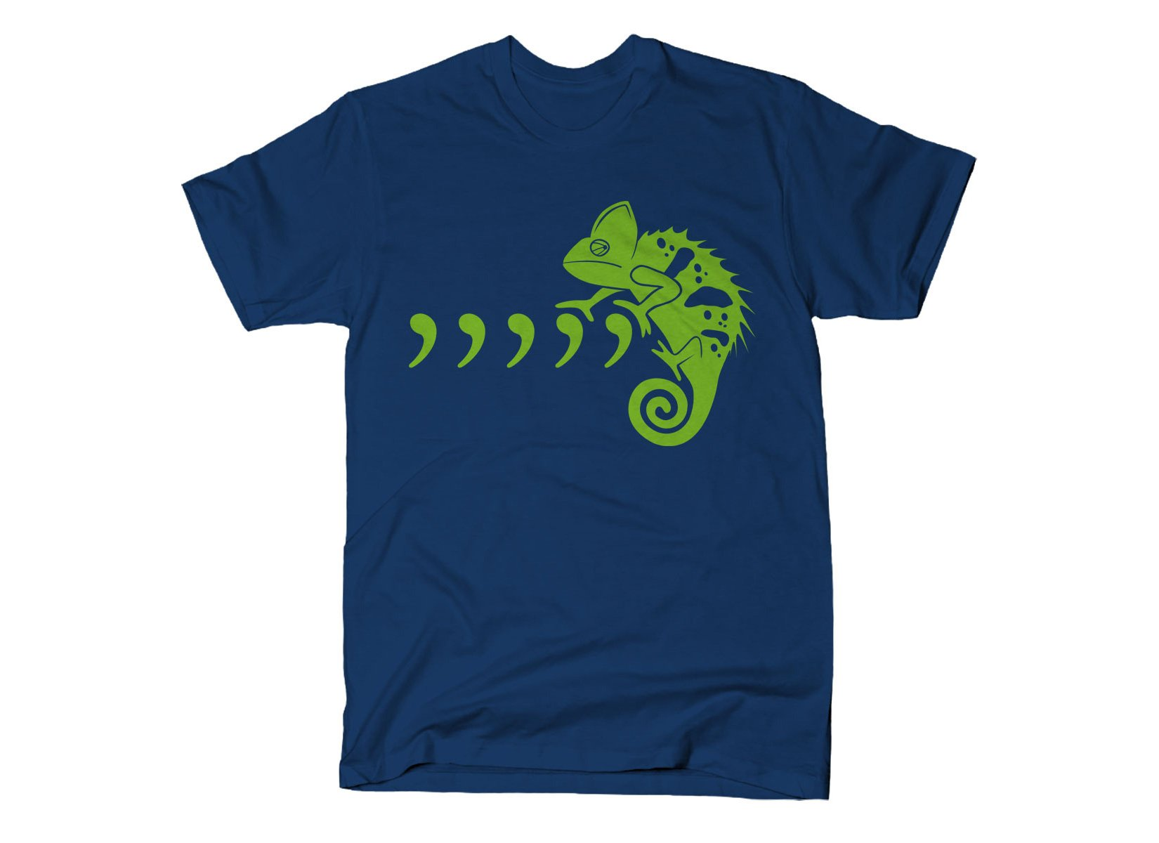 Comma Chameleon on Mens T-Shirt