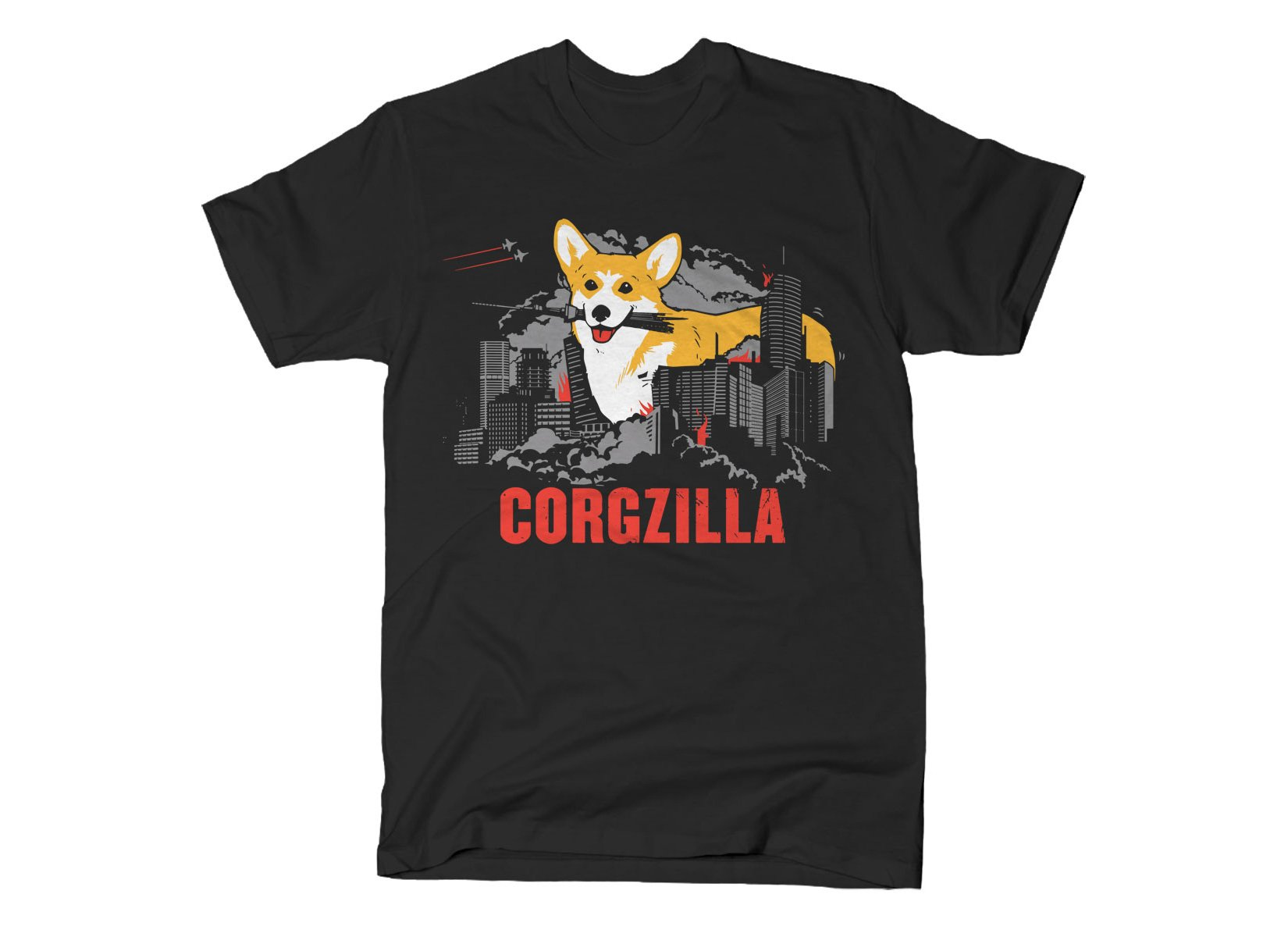 Corgzilla on Mens T-Shirt