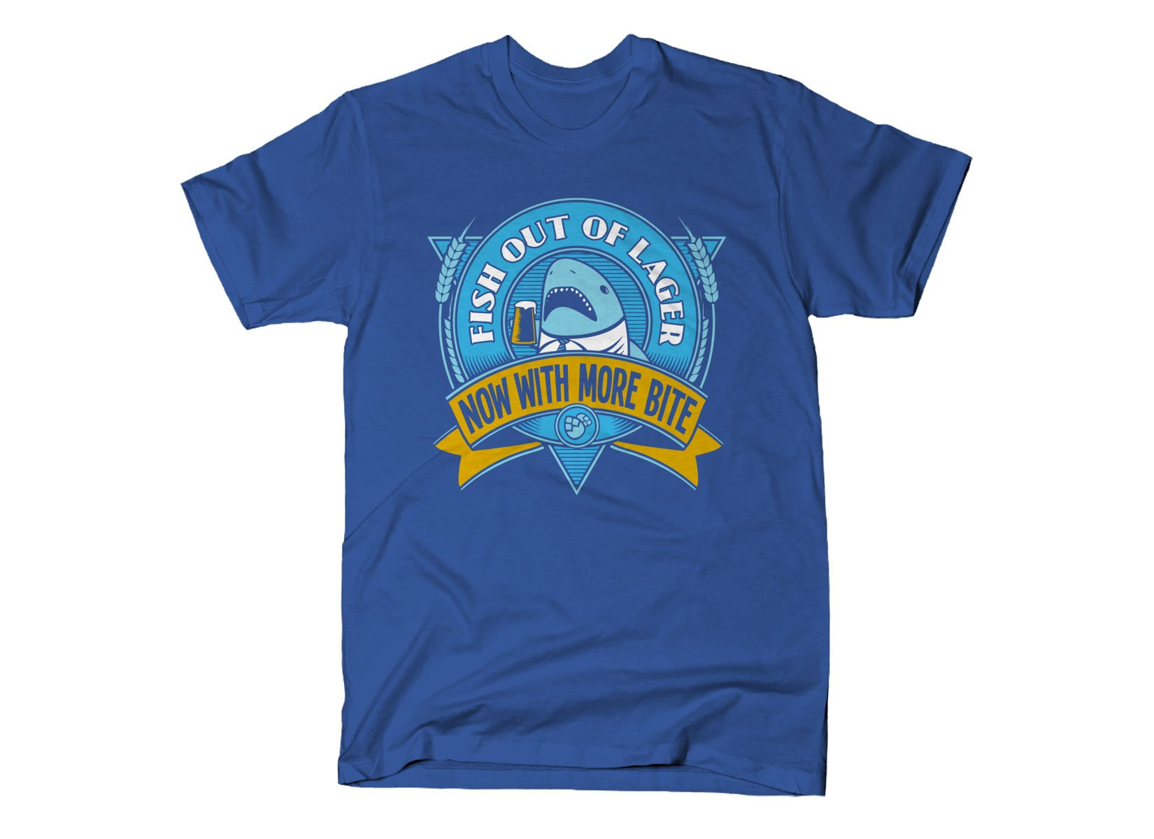 Fish Out Of Lager on Mens T-Shirt