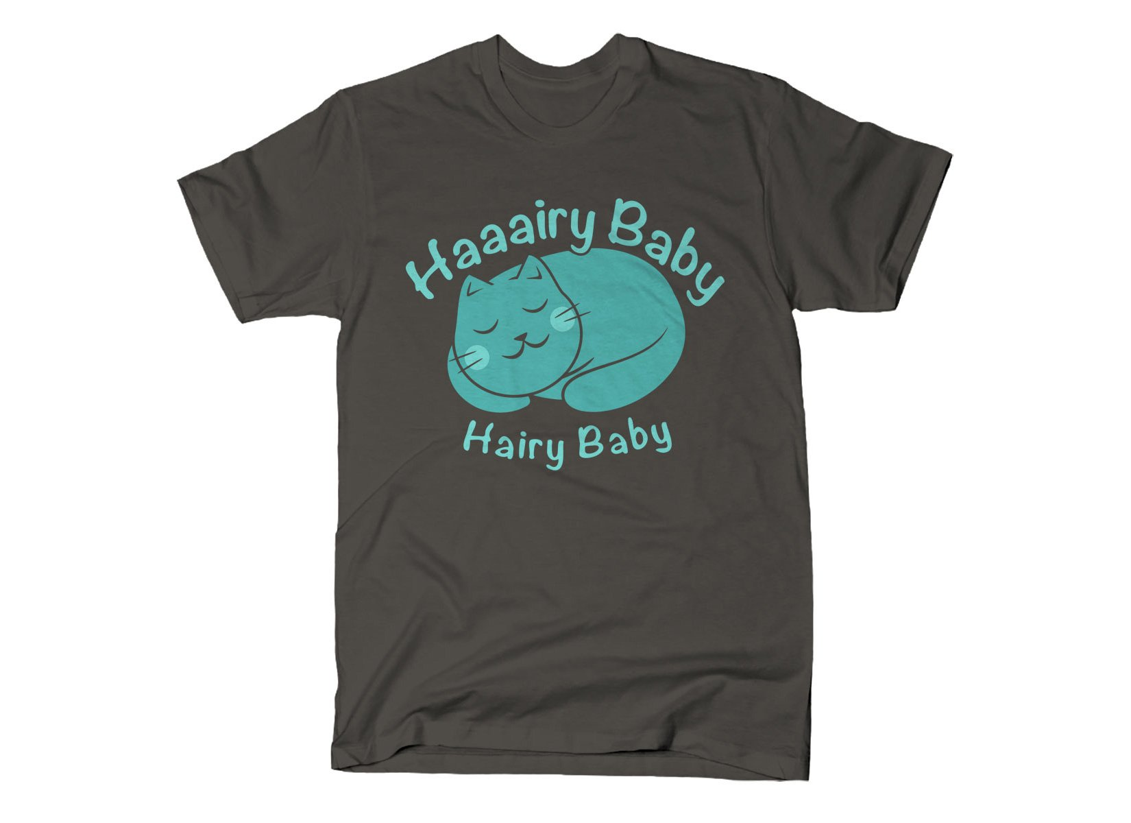 Hairy Baby on Mens T-Shirt