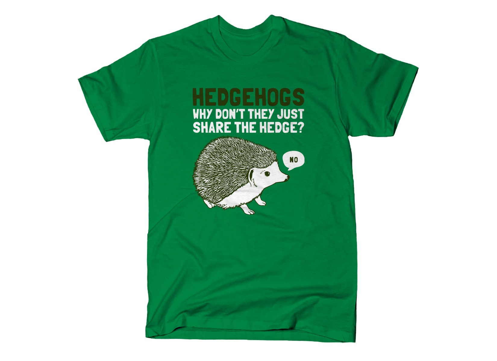Hedgehogs Can't Share on Mens T-Shirt