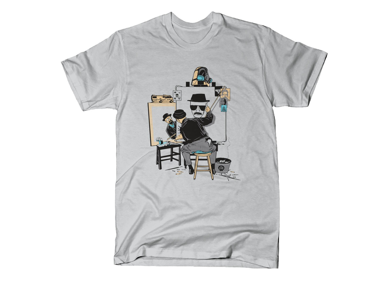 Heisenberg Self Portrait on Mens T-Shirt