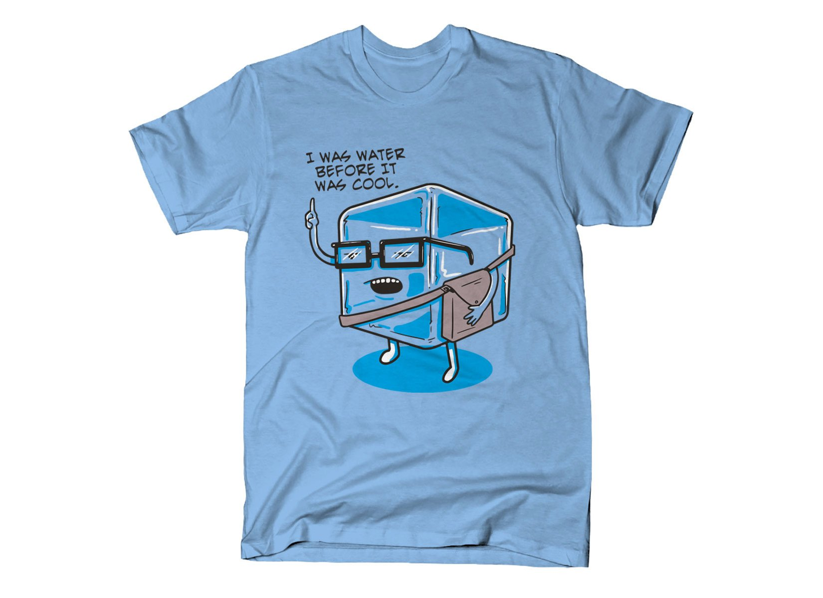 Hipster Ice Cube on Mens T-Shirt