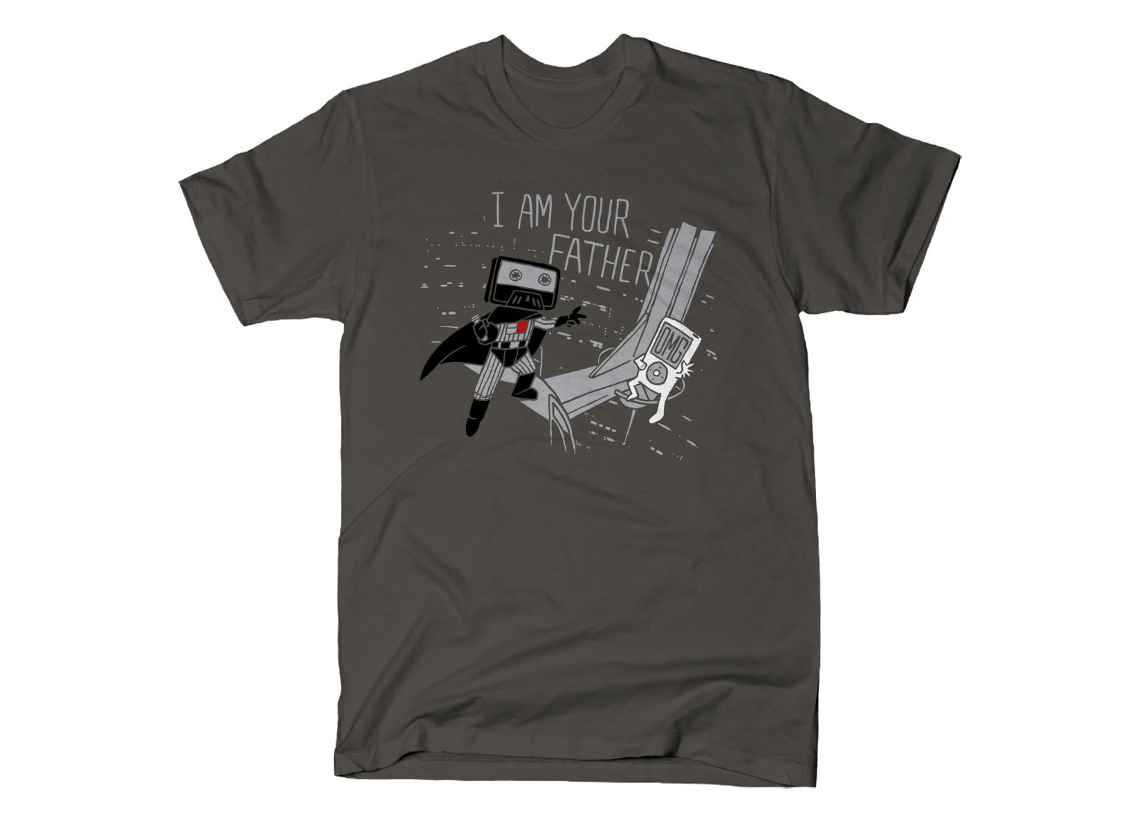 I Am Your Father Cassette on Mens T-Shirt