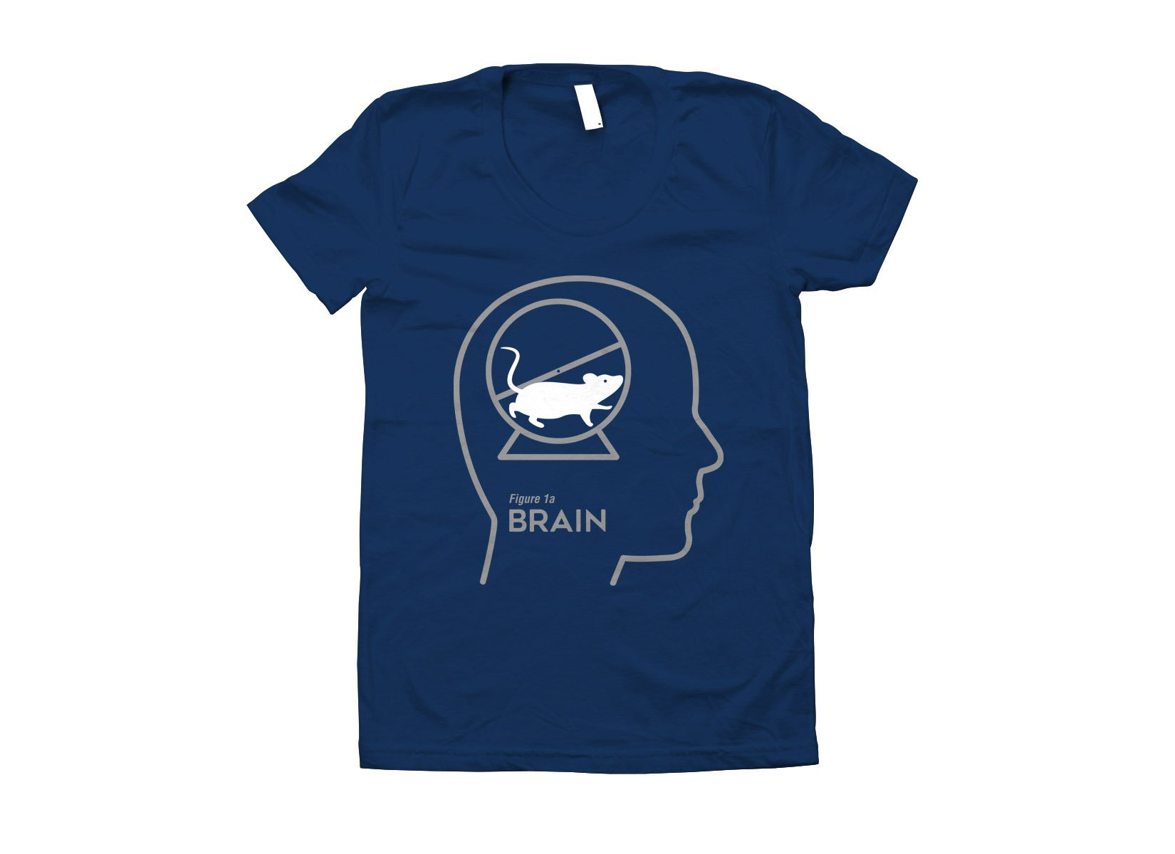 Mouse Wheel Brain on Juniors T-Shirt