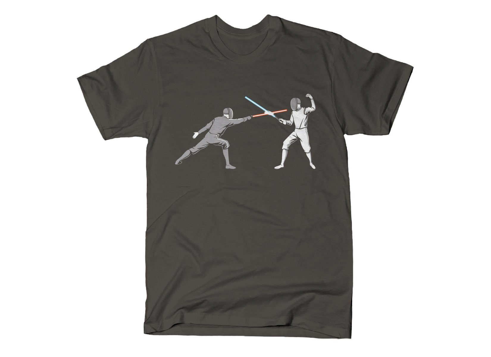 Light Fencing on Mens T-Shirt
