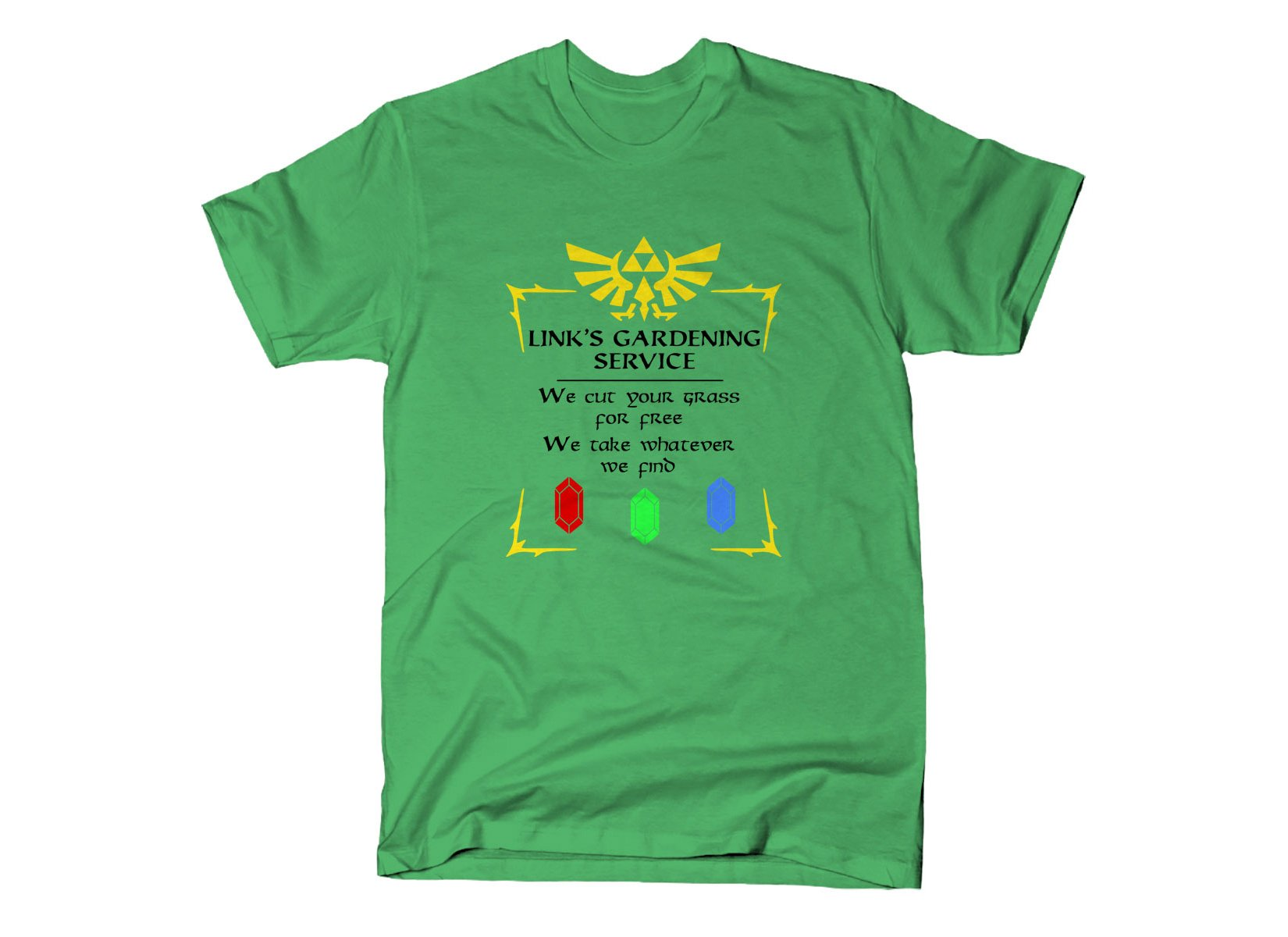 Link's Gardening Service on Mens T-Shirt