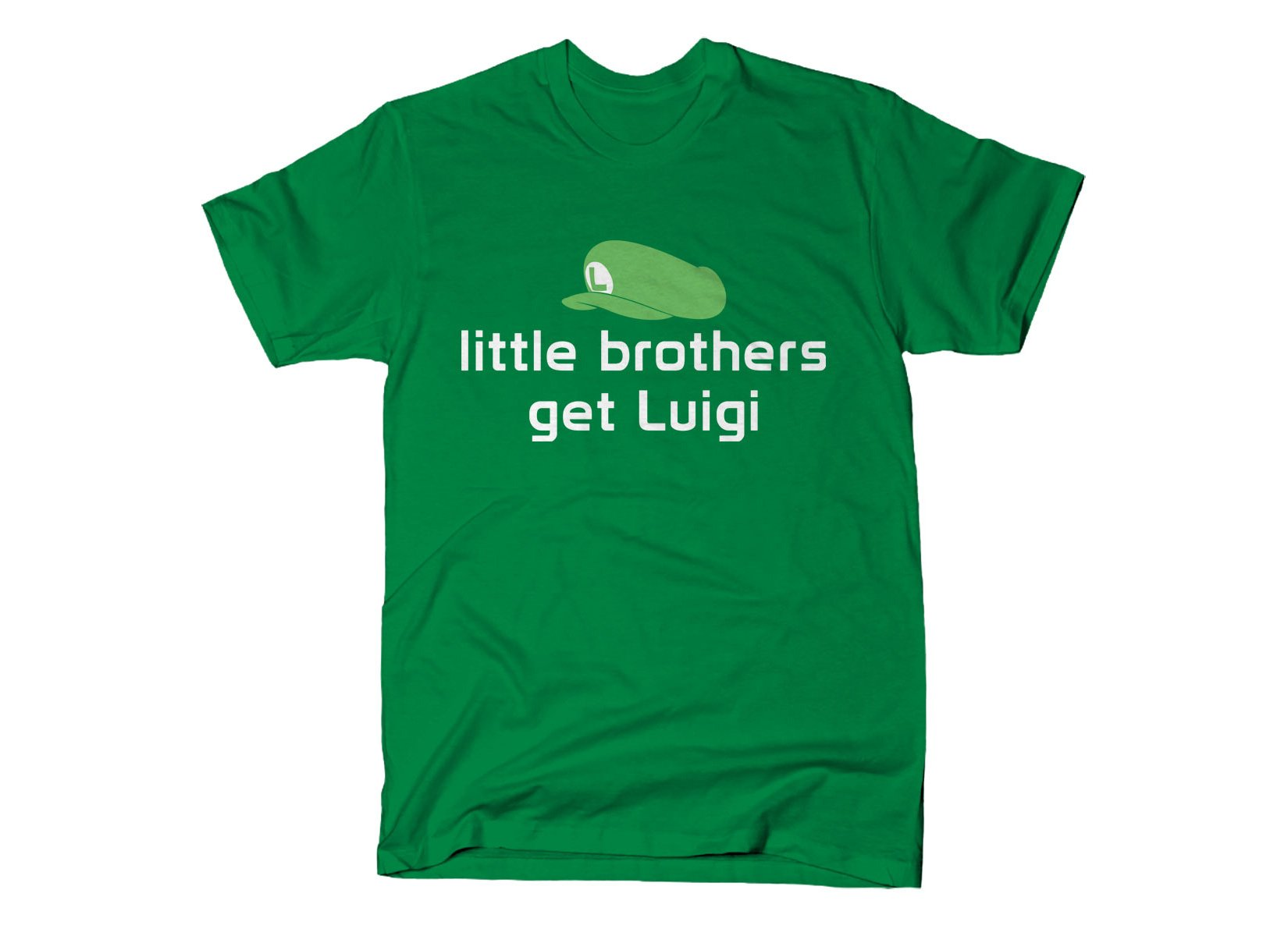 Little Brothers Get Luigi on Mens T-Shirt