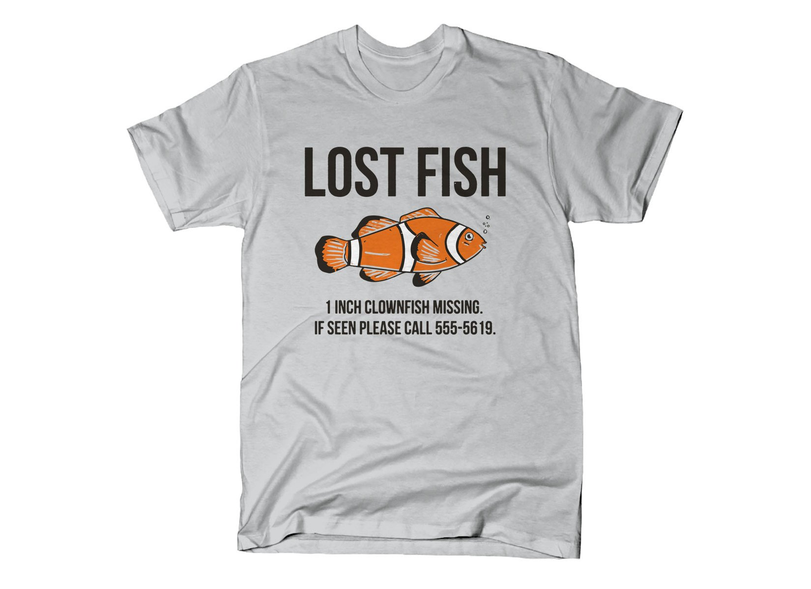 Lost Fish on Mens T-Shirt