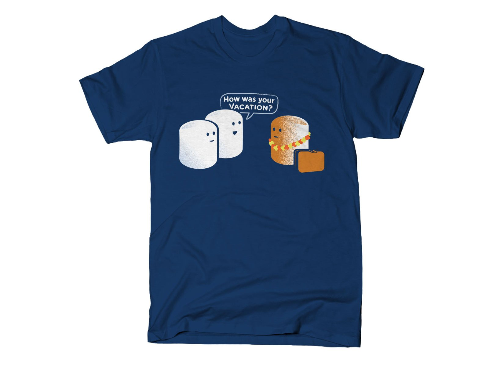 Marshmallow Vacation on Mens T-Shirt