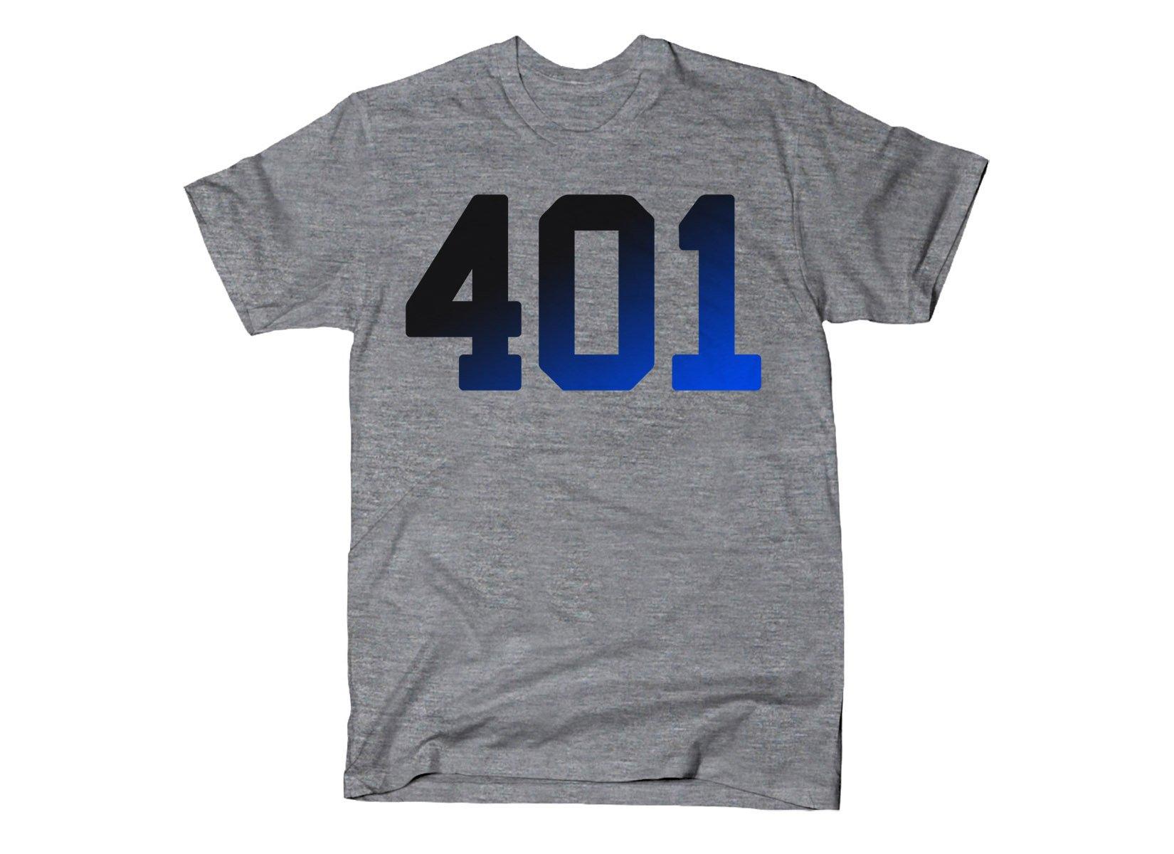 401 Rhode Island on Mens T-Shirt