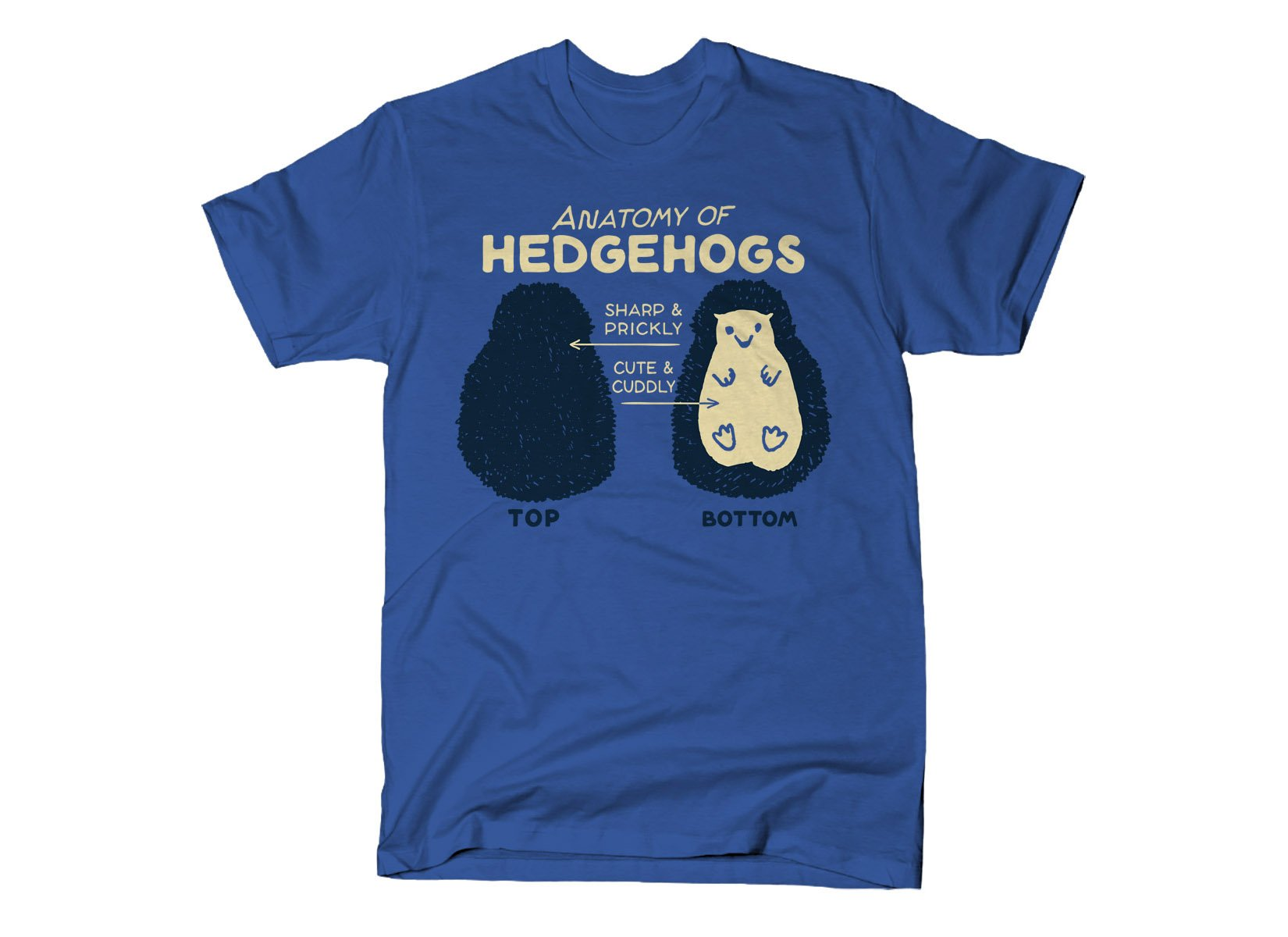 Anatomy Of Hedgehogs on Mens T-Shirt