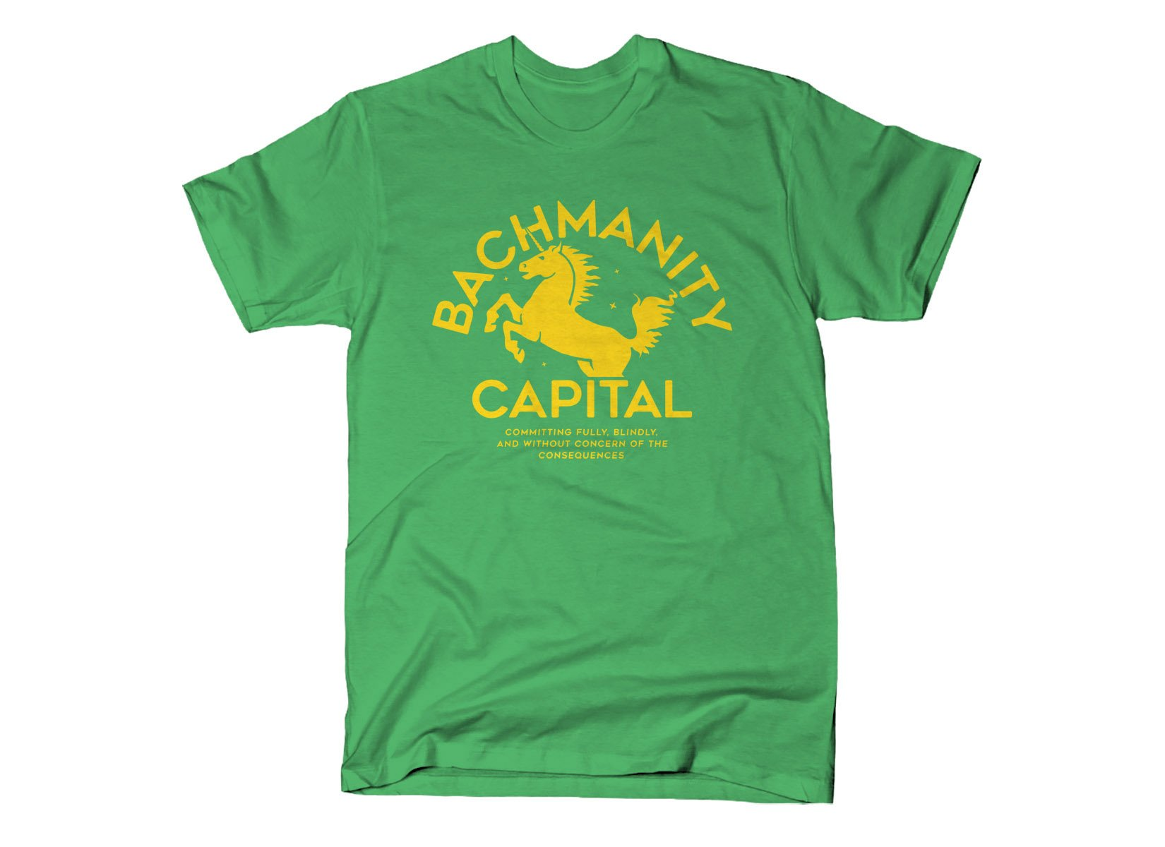 Bachmanity Capital on Mens T-Shirt