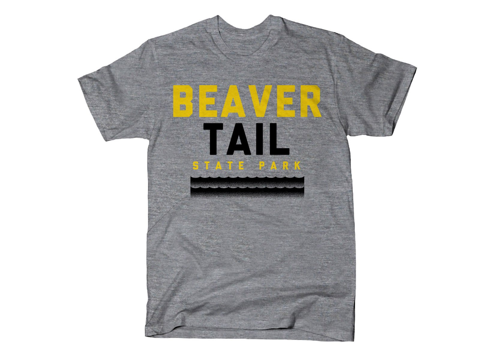 Beaver Tail on Mens T-Shirt