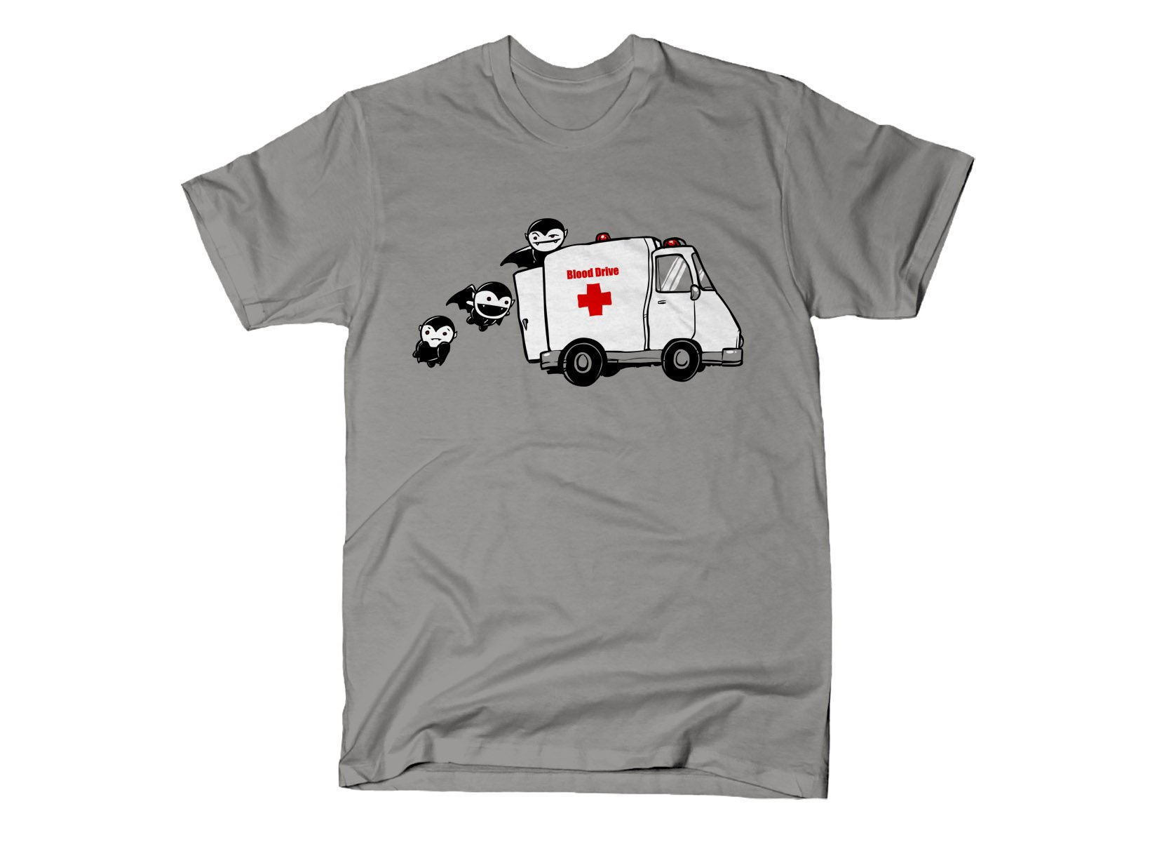 Blood Drive Vampires on Mens T-Shirt