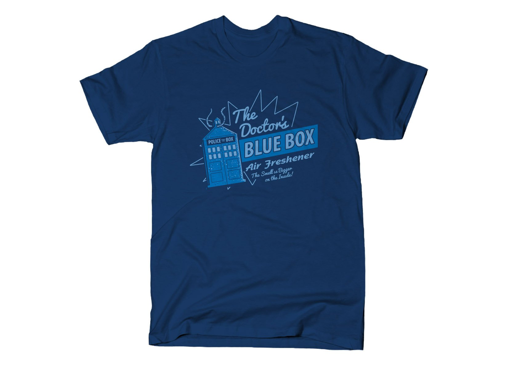 Blue Box Air Freshener on Mens T-Shirt
