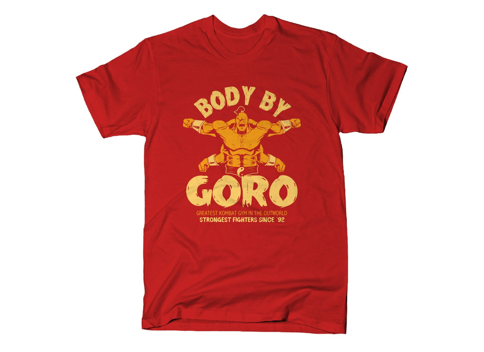 Body By Goro on Mens T-Shirt