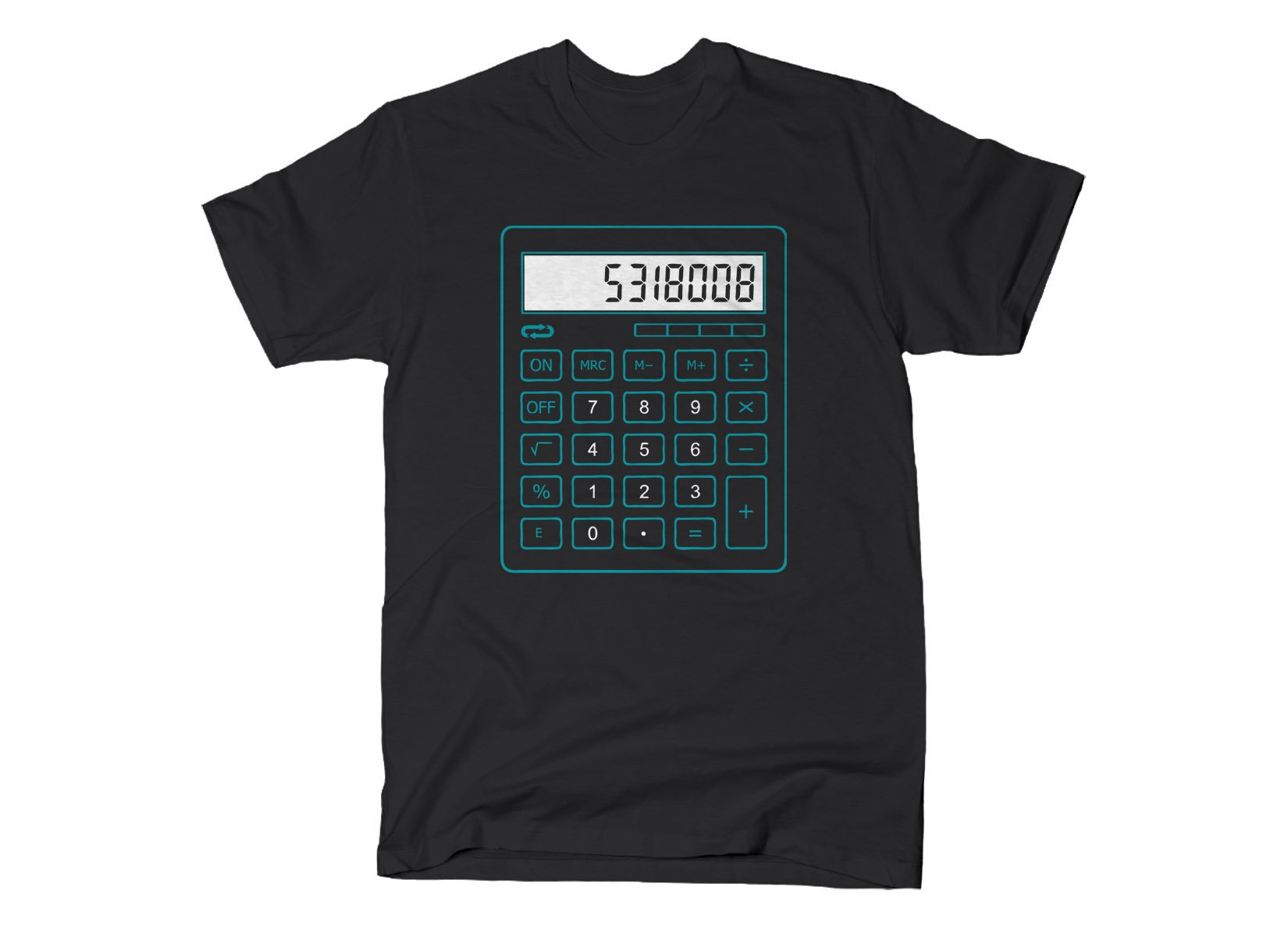 5318008 Calculator on Mens T-Shirt