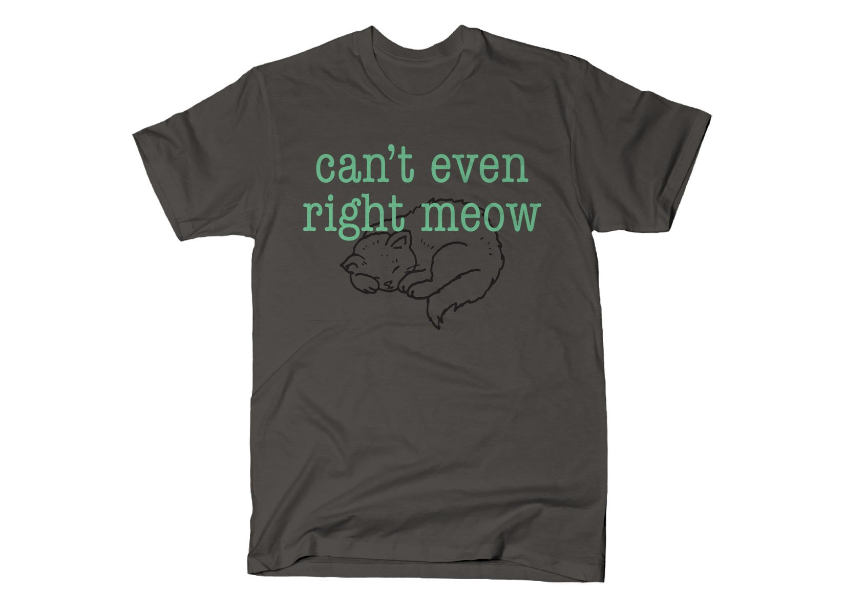 Can't Even Right Meow on Mens T-Shirt