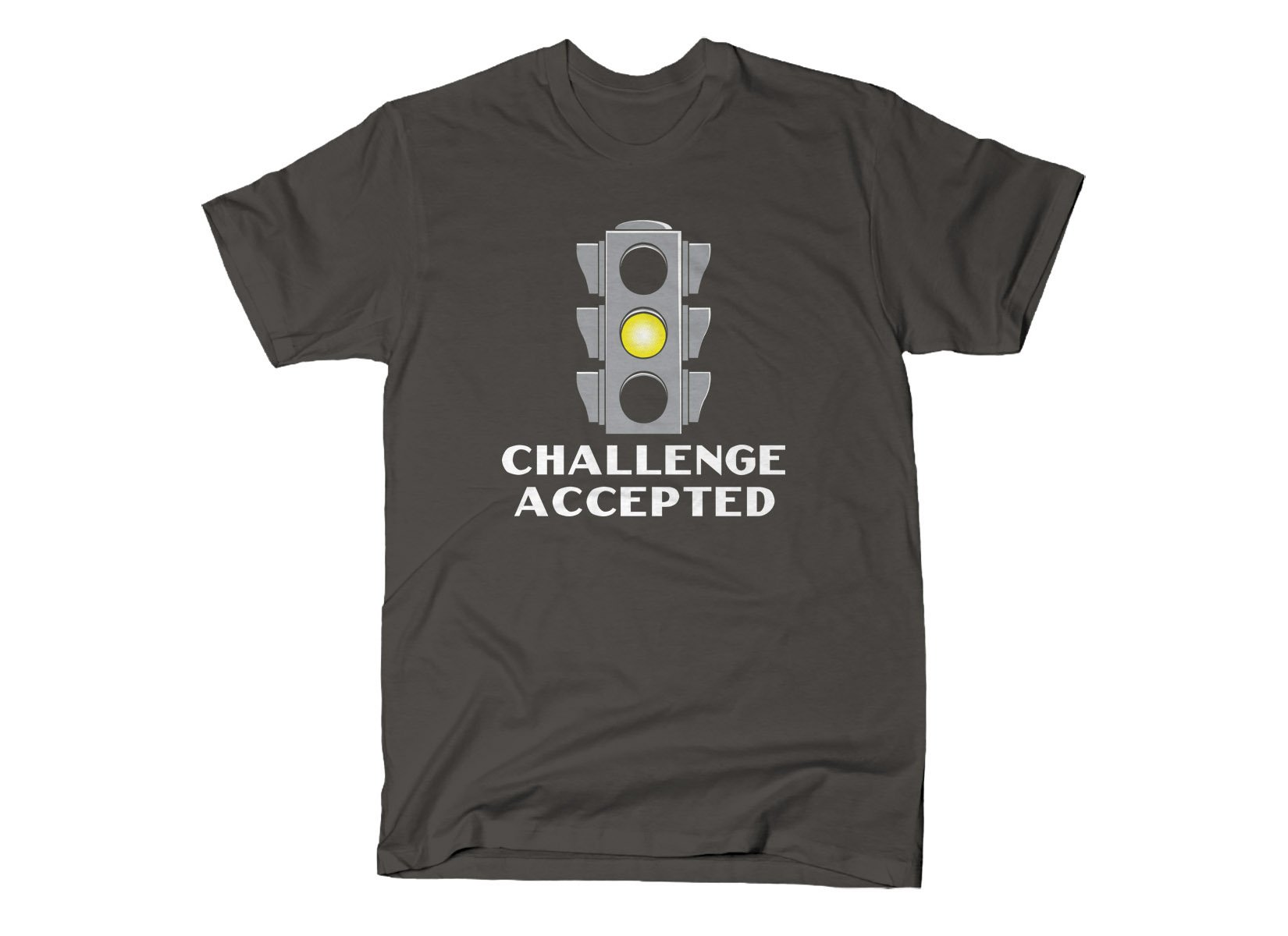 Challenge Accepted Stoplight on Mens T-Shirt