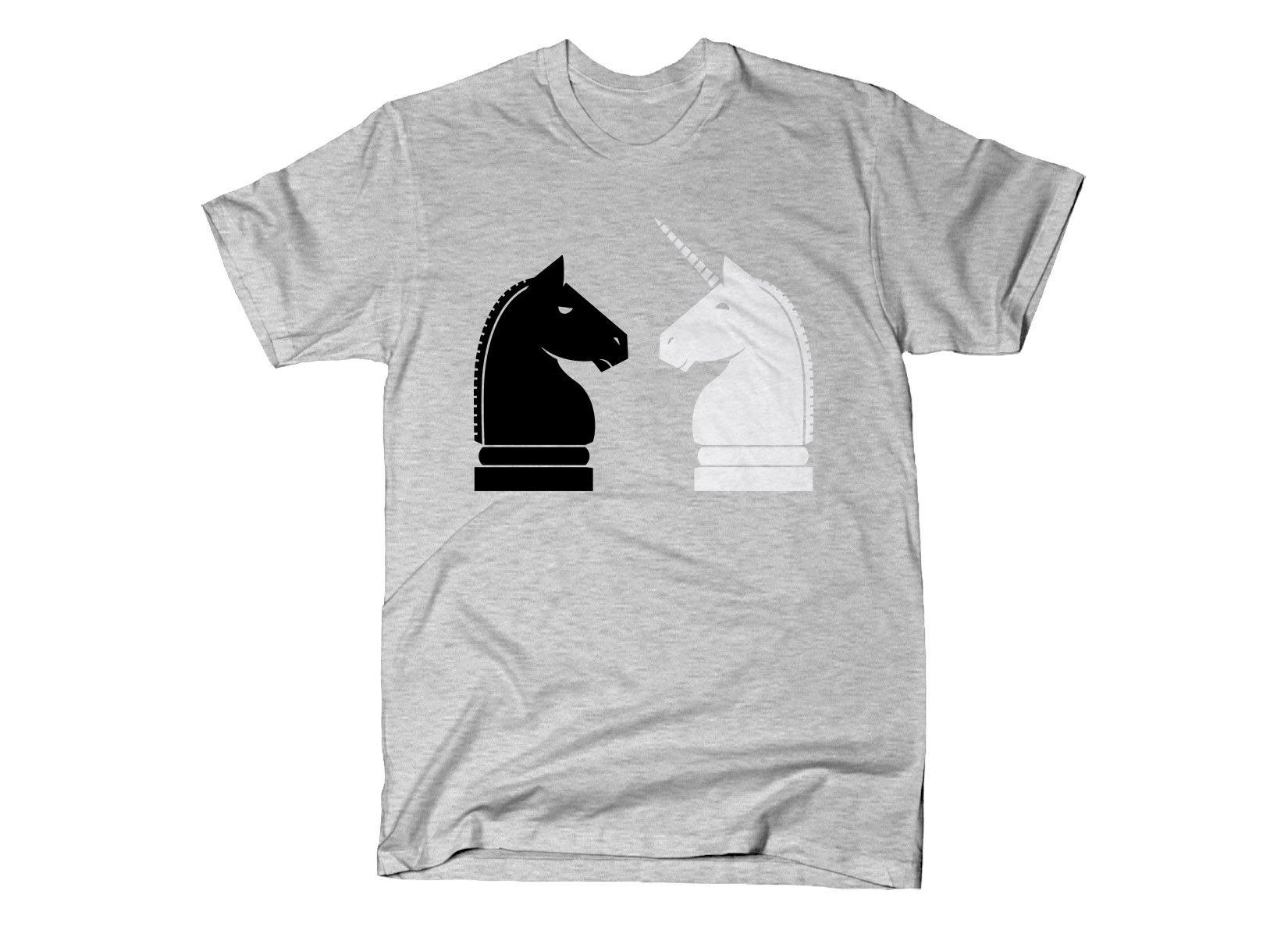 Chess Unicorn on Mens T-Shirt