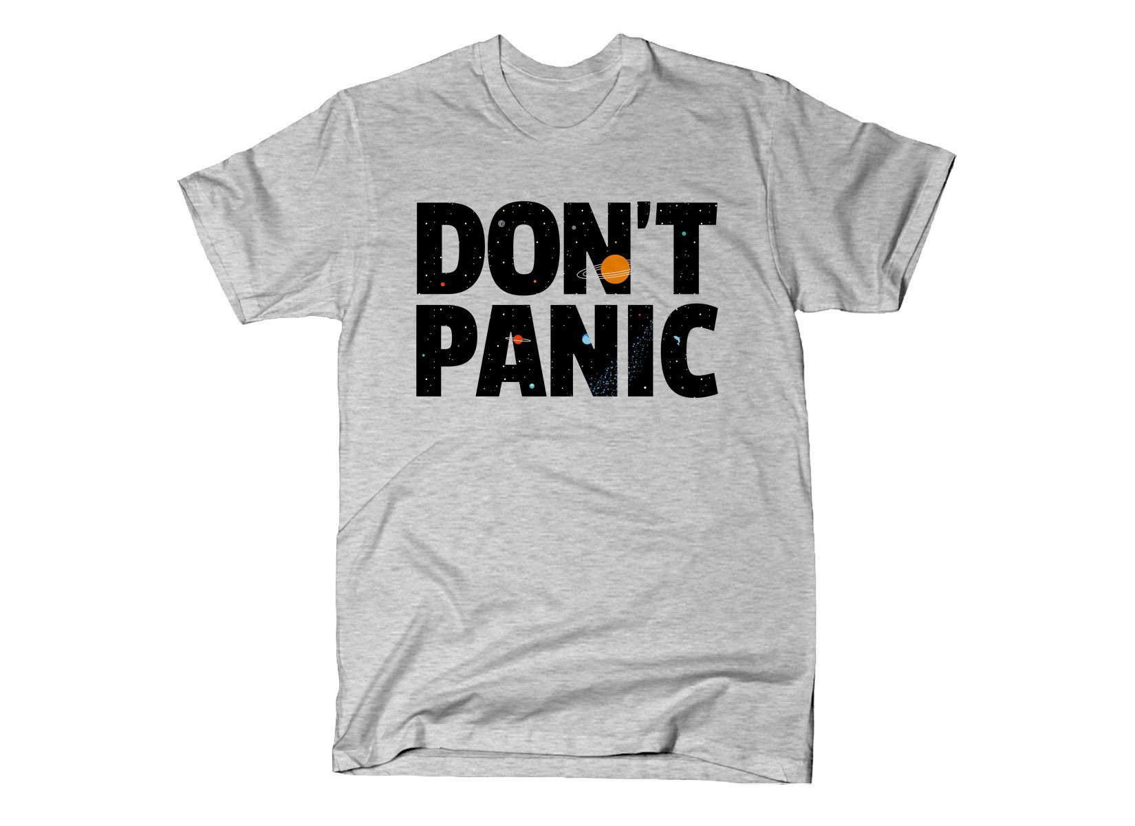 Don't Panic on Mens T-Shirt