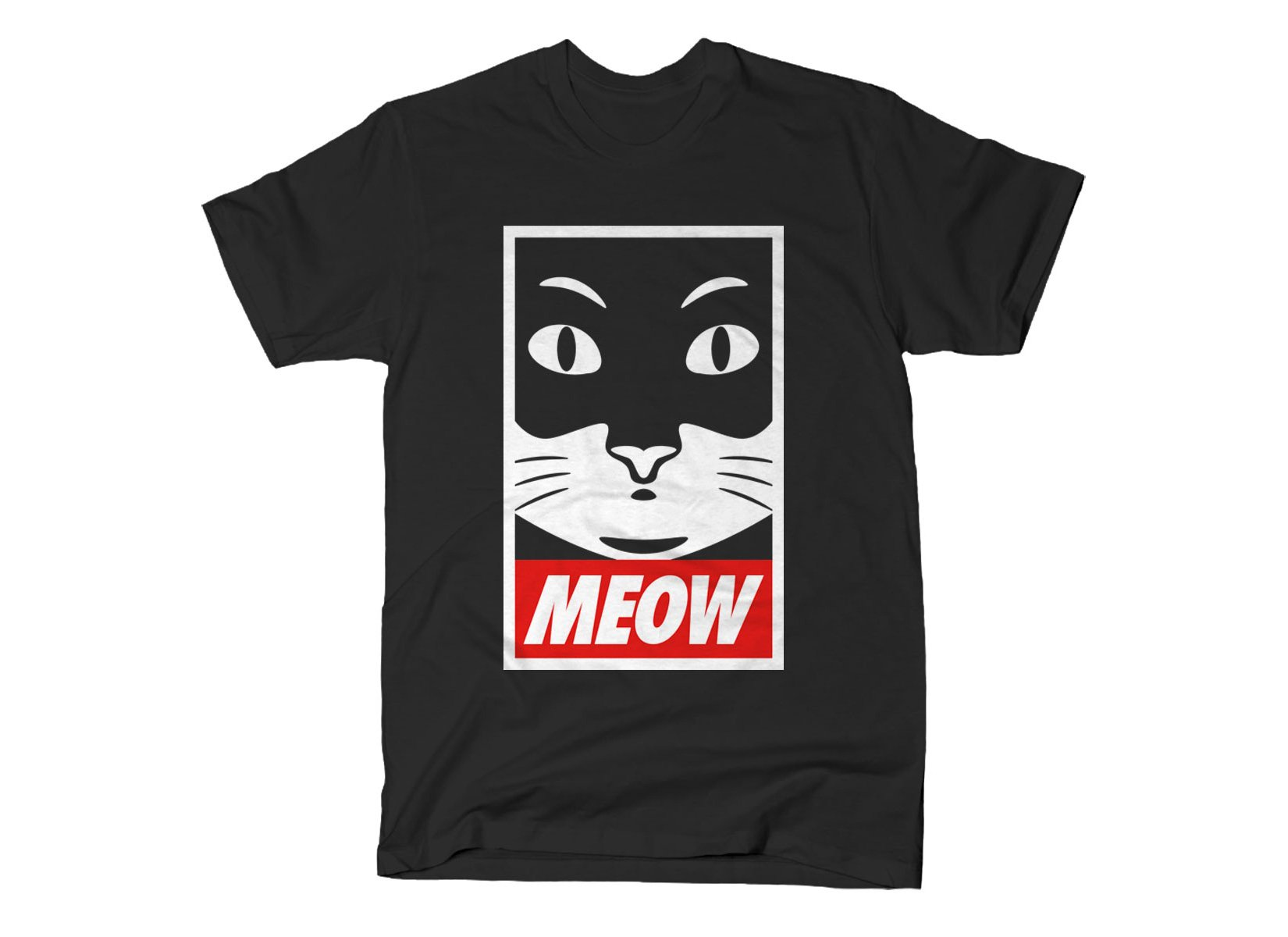Meow on Mens T-Shirt