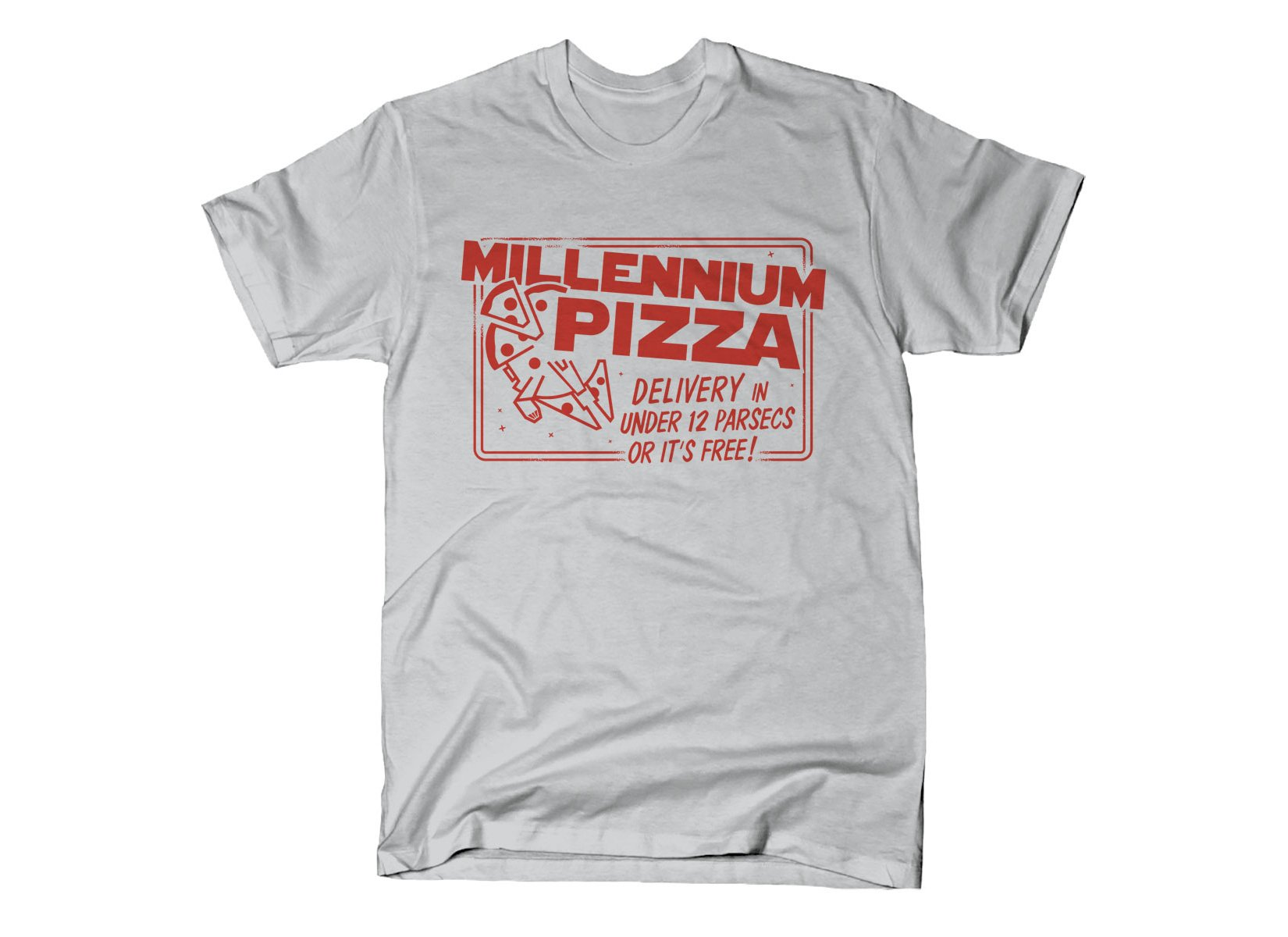 Millennium Pizza on Mens T-Shirt