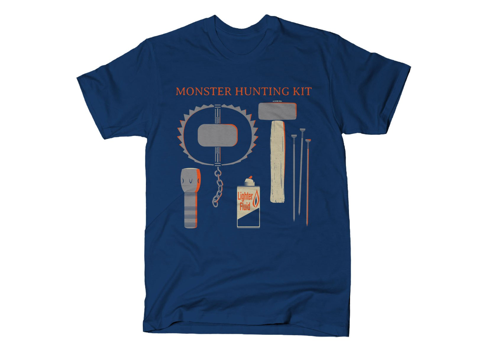 Monster Hunting Kit on Mens T-Shirt