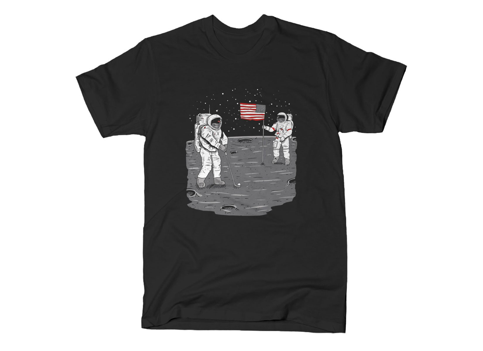 Moon Golf on Mens T-Shirt