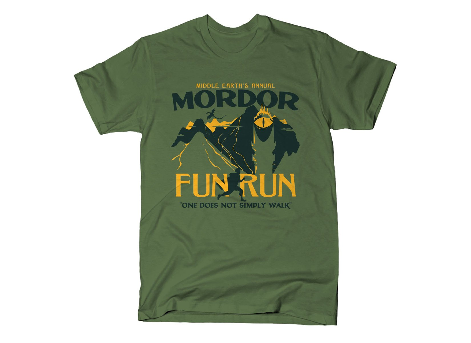 Mordor Fun Run on Mens T-Shirt