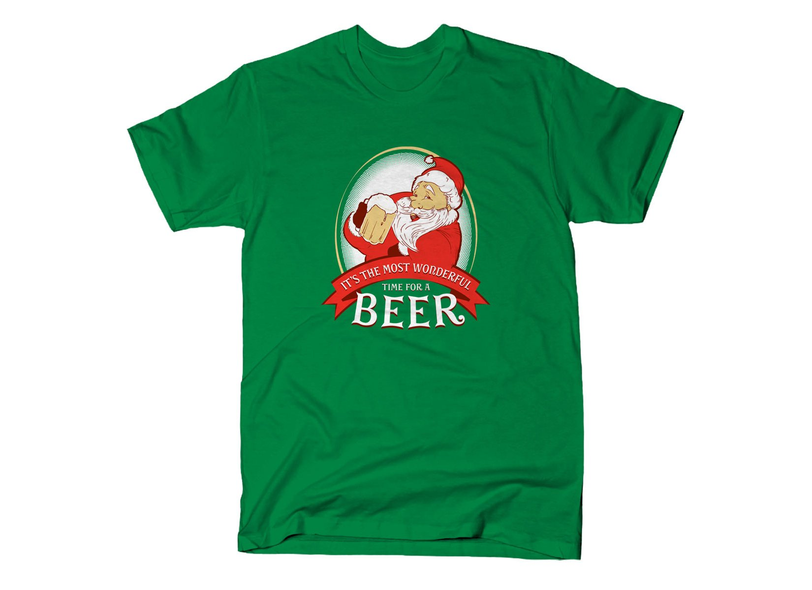 It's The Most Wonderful Time For A Beer on Mens T-Shirt