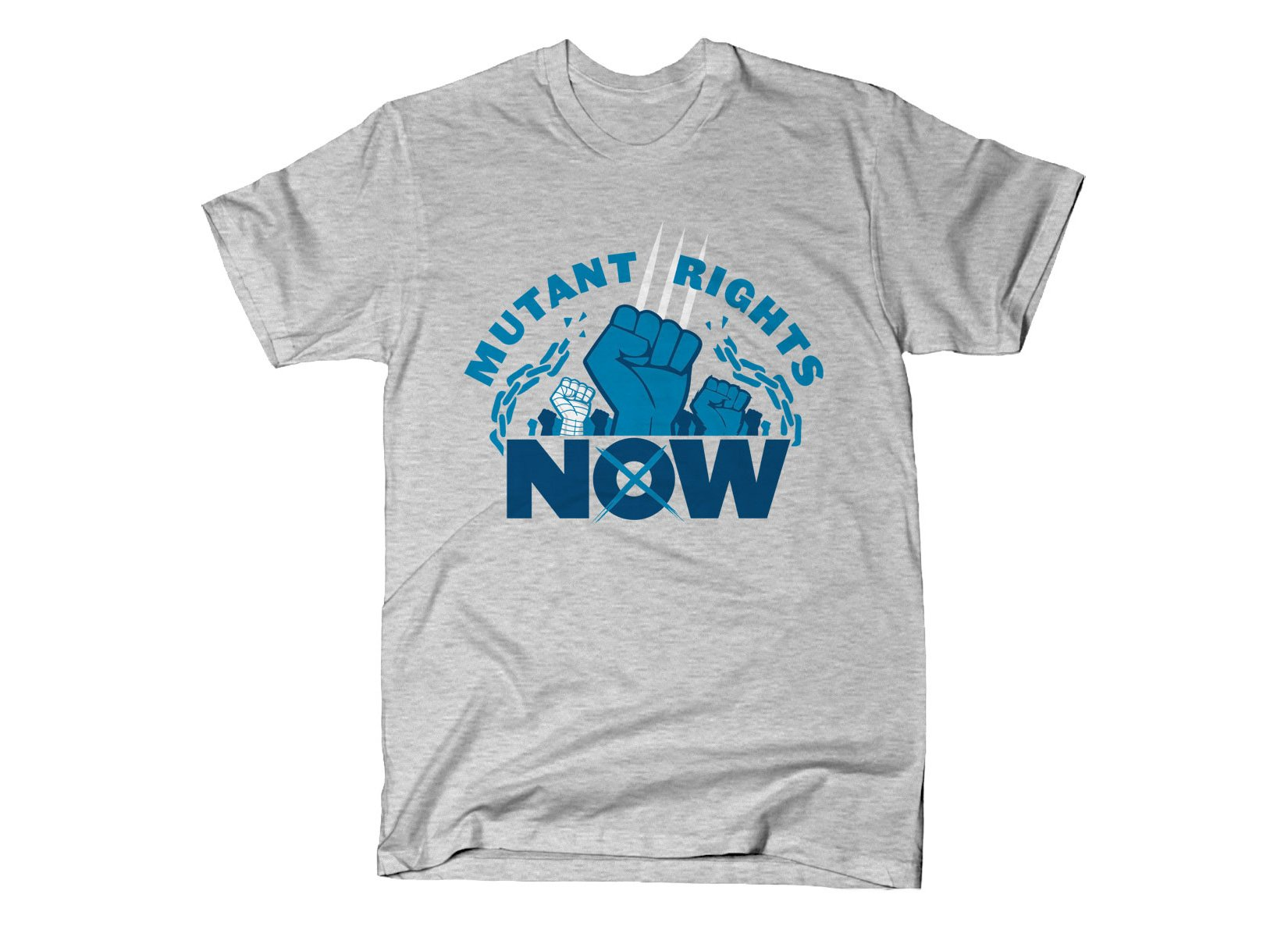 Mutant Rights Now! on Mens T-Shirt