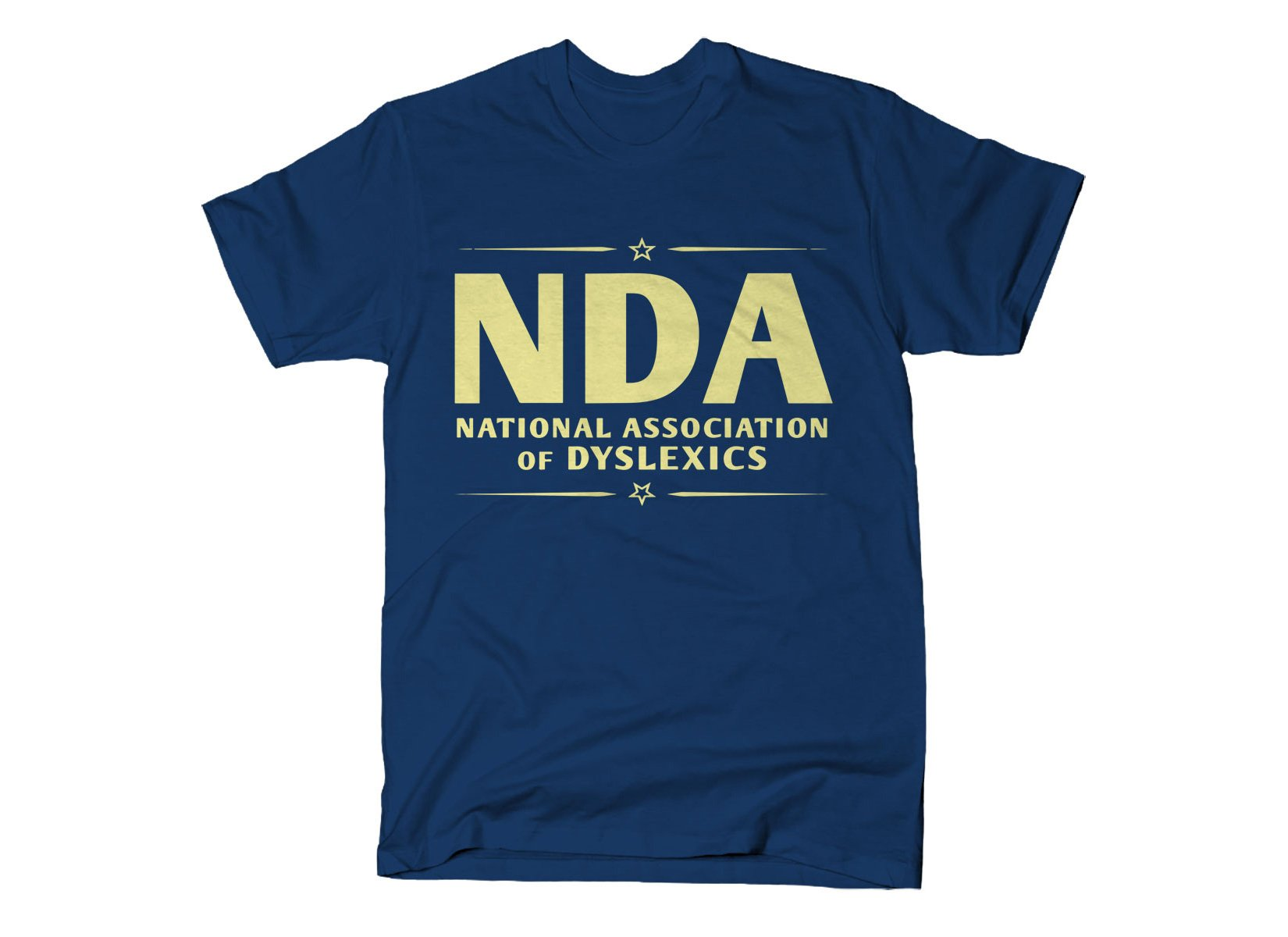 National Association of Dyslexics on Mens T-Shirt