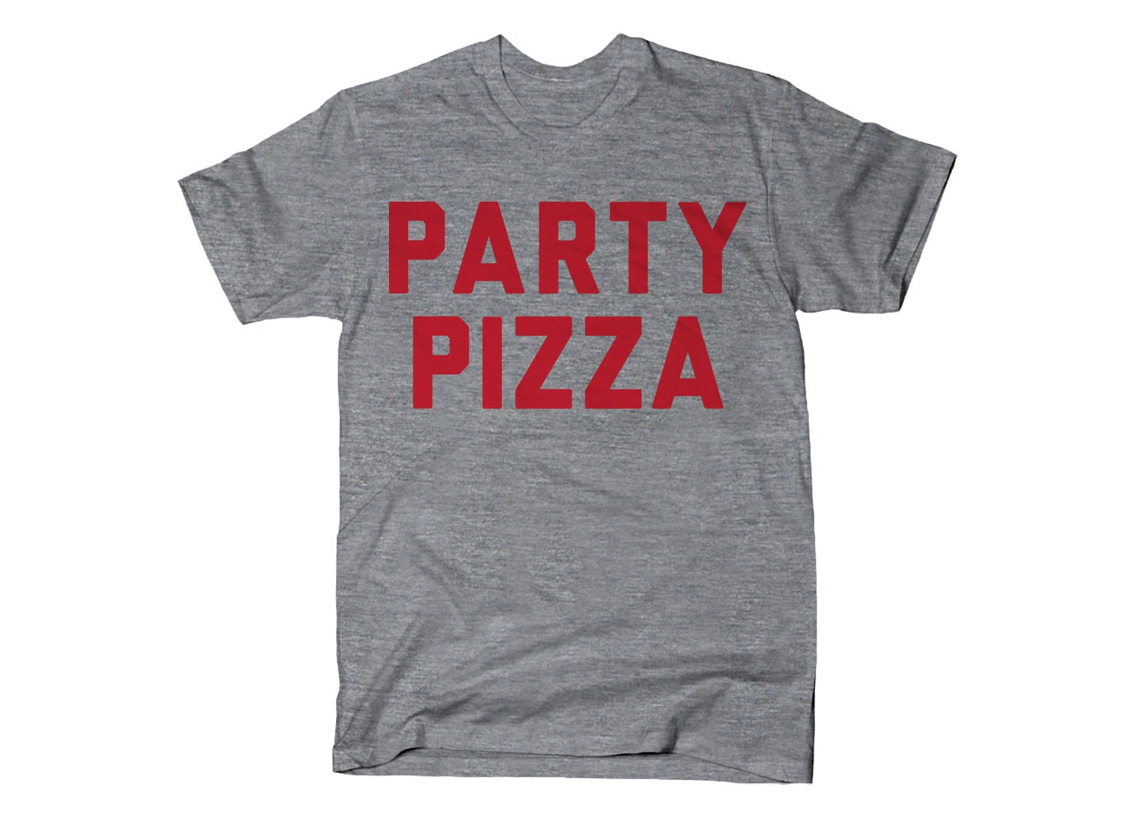 Party Pizza on Mens T-Shirt