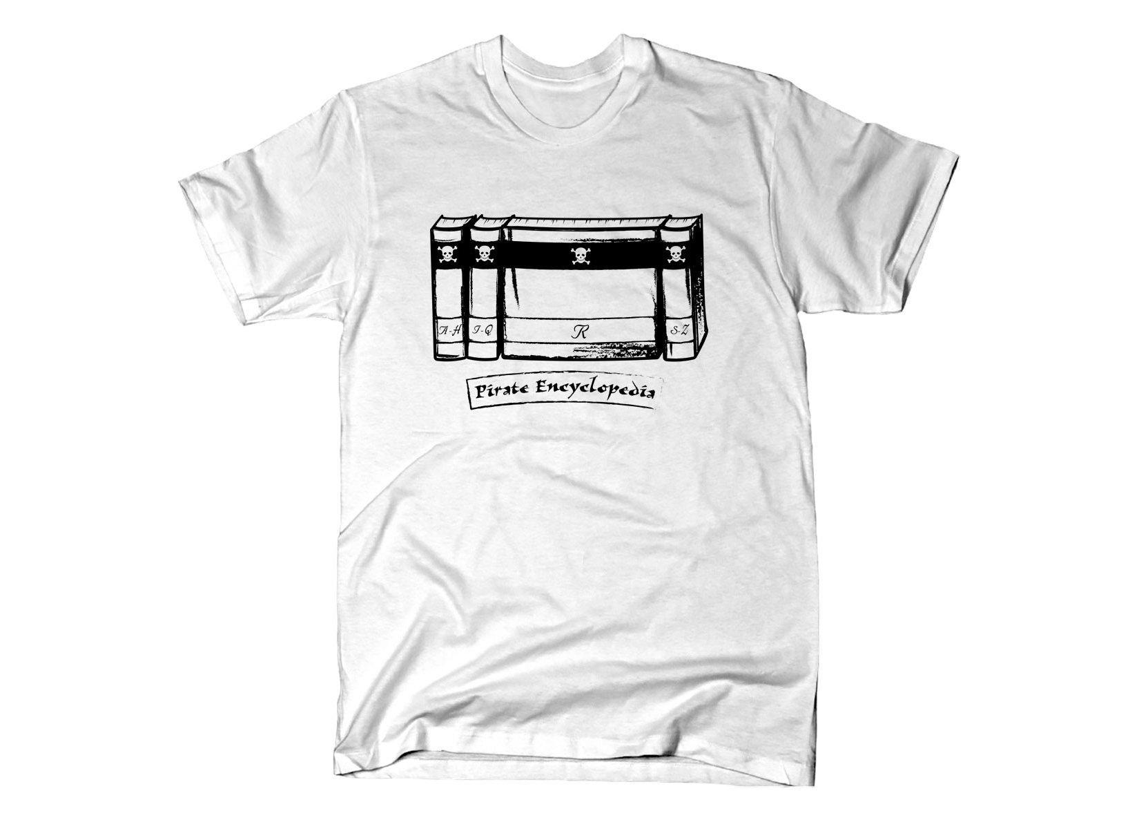 Pirate Encyclopedia on Mens T-Shirt