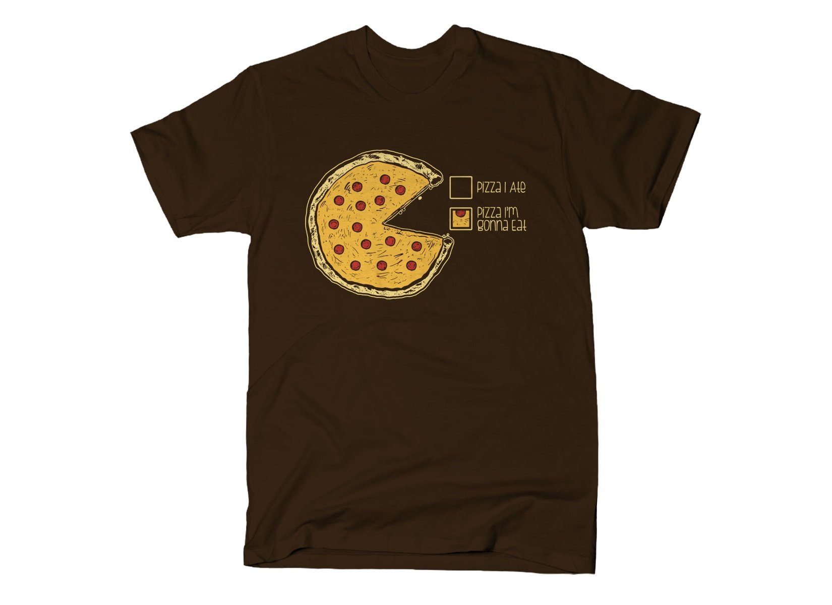 Pizza Pie Chart on Mens T-Shirt