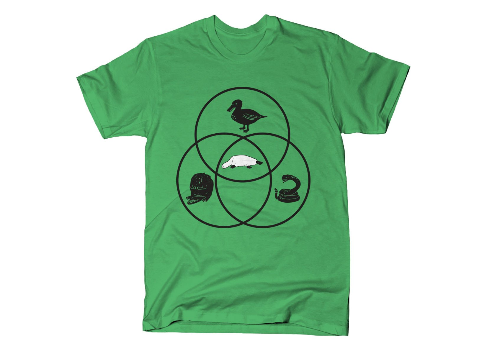 Platypus Venn Diagram on Mens T-Shirt
